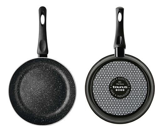 "Taurus Frying Pan Enamel Black 18cm ""Vital Stone"""
