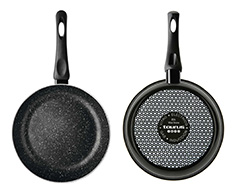 "Taurus Frying Pan Enamel Black 18cm ""Vital Stone"""