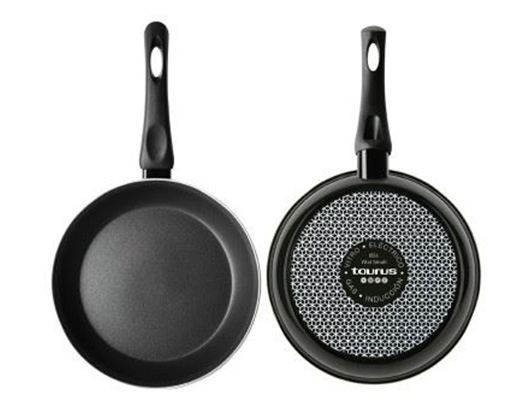 "Taurus Frying Pan Enamel Black 20cm ""Vital Smalt"""