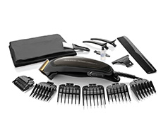 "Taurus Hair Clipper 16 Piece Set Titanium Black 6W ""Mithos Titanium Plus"""