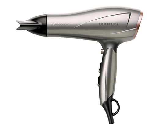 "Taurus Hair Dryer AC Motor Silver 3 Speed 2400W ""Studio 2400 Ionic"""