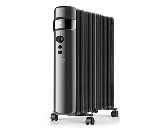 "Taurus Heater 11 Fin Oil Filled Steel Black 3Heat Settings 2500W ""Agadir 2500"""