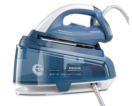 "Taurus Iron Steam Station Ceramic Blue 1.5L 2400W ""Sliding Pro Ultra"""