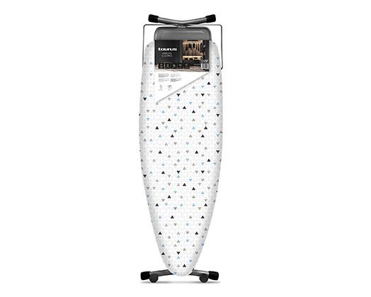 Taurus Ironing Board Mesh Top Powder Coat Grey 130X47cm 'Argenta Elegance'