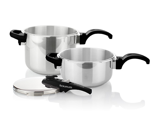 "Taurus Pressure Cooker 2 Piece Set Stainless Steel 6 + 4l ""Ontime Rapid"""