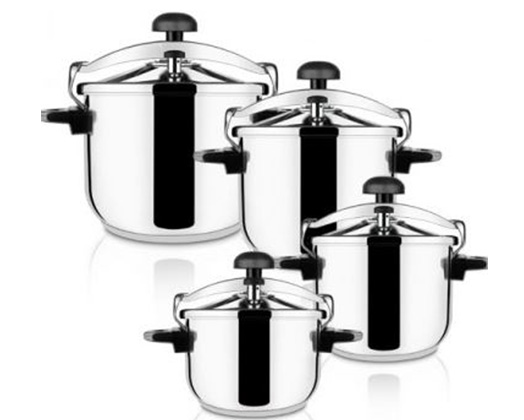 "Taurus Pressure Cooker With Valve Pressure Controller Stainless Steel 4l ""Ontime Classic"""