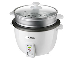 "Taurus Rice Cooker Plastic White 1.8L 700W ""Rice Chef"""