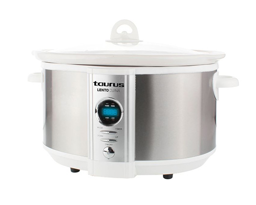 "Taurus Slow Cooker Digital Stainless Steel Brushed 6.5l 320W ""Lento Cuina"""