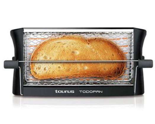 "Taurus Toaster 2 Slice Stainless Steel Black 700W ""Todopan"""