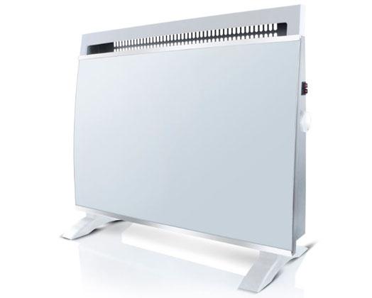 Taurus Heater Electric Glass White 2Heat Settings 1500W