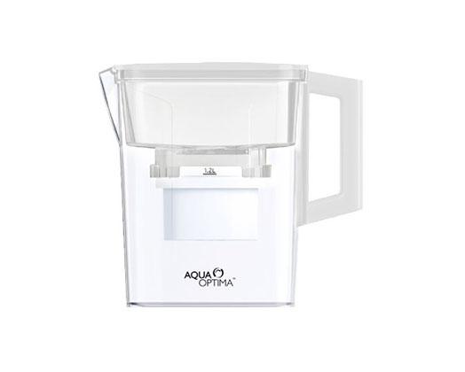 "Aqua Optima Water Jug With 2 X 30 Day Filter Plastic White 2.1L ""Compact"""