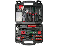 "Casals Hand Tools 145 Piece Set Steel Red ""HH145"""