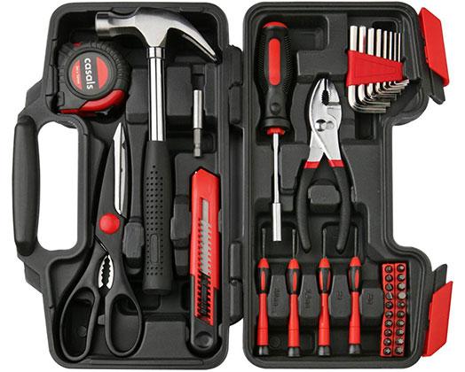 "Casals Hand Tools 39 Piece Set Steel Red ""HH39"""