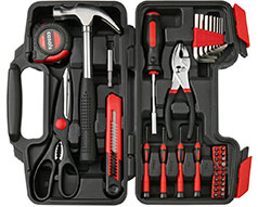 "Casals Hand Tools 39 Piece Set Steel Red ""HH39"""