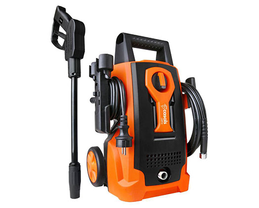 "Casals High Pressure Washer With Attachments Plastic Orange 70Bar 1400W ""JHP14"""