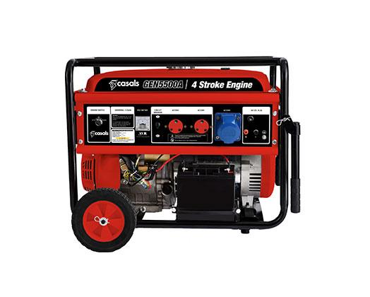 Casals Generator Electric Key & Recoil Start Steel Red Single Phase 4 Stroke 4400W