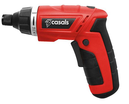 Casals Screwdriver Cordless 5 Piece Set Plastic Red 3.6V