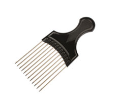Blue Supa Steel Afro Comb