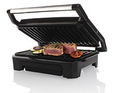 "Mellerware Panini Press 2 Slice Stainless Steel Black Grill Plate 800W ""Compacto"""