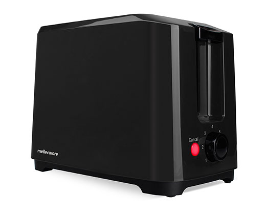 """Toaster 2 Slice 750W Cool Touch Black""""Eco"""""""