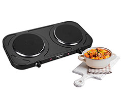 Black Helios 2000W Double Hotplate