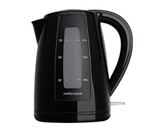 "Mellerware Kettle 360 Degree Cordless Plastic Black 1.7L 2200W ""Breede"""