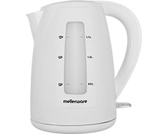 "Mellerware Kettle 360 Degree Cordless Plastic White 1.7L 2200W ""Breede"""
