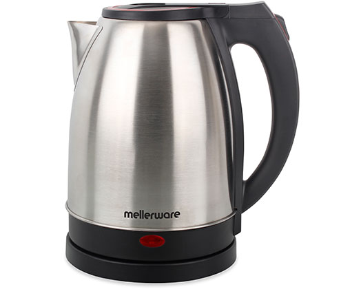 """Mellerware Kettle 360 Degree Cordless Stainless Steel Brushed 1.8L 1500W """"Rio"""""""