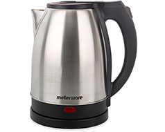 "Mellerware Kettle 360 Degree Cordless Stainless Steel Brushed 1.8L 1500W ""Rio"""
