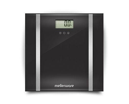 "Mellerware Bathroom Scale BMI Digital Glass 180kg 3V ""Bodymax"""