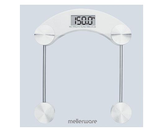 "Mellerware Bathroom Scale Digital Glass 180kg 3V ""Munich"""