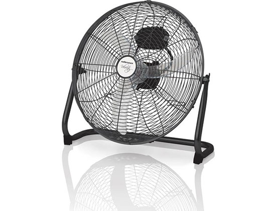 "Mellerware Fan 3 Speed Floor Fan Steel Black 45cm 60W ""Velocity 18"""