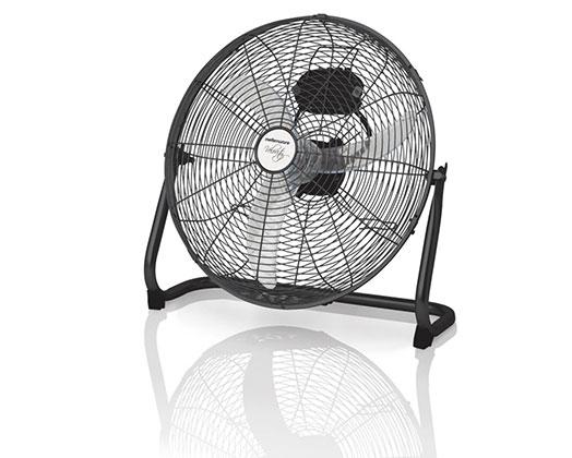 """Mellerware Fan 3 Speed Floor Fan Steel Black 40cm 35W """"Velocity 16''"""