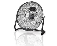 "Mellerware Fan 3 Speed Floor Fan Steel Black 40cm 35W ""Velocity 16''"