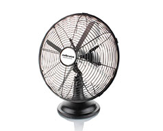"Mellerware Fan Desktop Steel Black 30cm 35W ""Aquillo Breeze"""