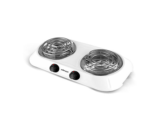 "Mellerware Hotplate Double Powder Coat White Spiral Plate 2000W ""Helios"""