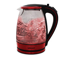 "Mellerware Kettle 360 Degree Cordless Glass Red 1.8L 2200W ""Azure"""