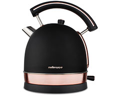 "Mellerware Kettle 360 Degree Cordless Stainless Steel Black 1.8L 2200W ""Rose Gold"""