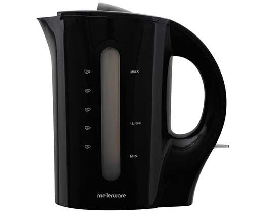 "Mellerware Kettle Corded Plastic Black 1.7L 2200W ""Tugela"""