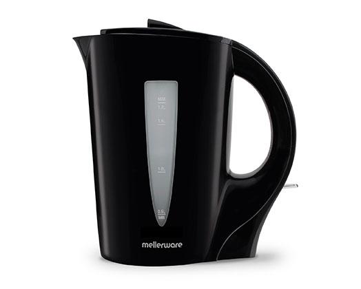 "Mellerware Kettle Corded Plastic Black 1.7L 2200W ""Sabie"""