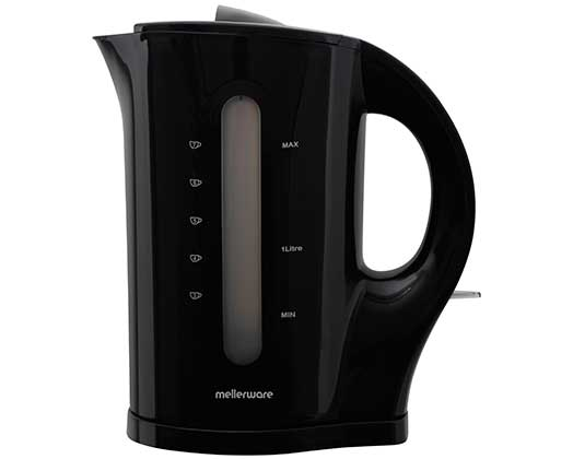 "Mellerware Kettle Cordless Plastic Black 1.7L 2200W ""Tugela"""