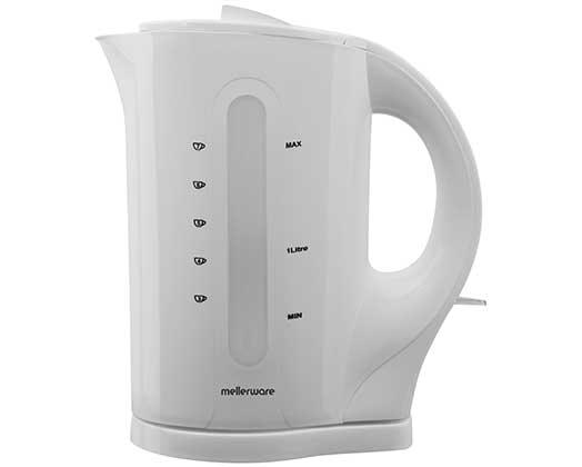 "Mellerware Kettle Cordless Plastic White 1.7L 2200W ""Tugela"""