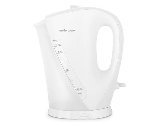"Mellerware Kettle White Cordless Plastic 1.7L 2200W ""Zambezi"""