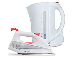 Mellerware Pack 2 Piece Set White Kettle + Iron