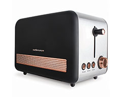 "Mellerware Toaster 2 Slice Stainless Steel Black 6 Heat Settings 850W ""Rose Gold"""