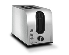 Mellerware Toaster 2 Slice Stainless Steel Brushed 6Heat Settings 700W