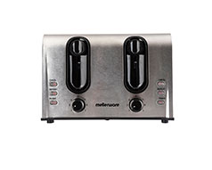 "Mellerware Toaster 4 Slice Stainless Steel Brushed 7Heat Settings 1600W ""Sigma Legend"""