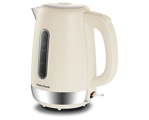"""Morphy Richards Kettle 360 Degree Cordless Stainless Steel Cream 1.7L 3000W """"Equip"""""""