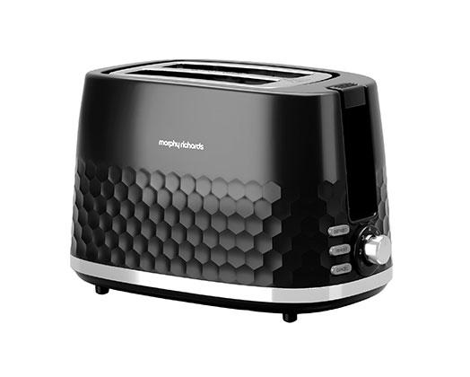 "Morphy Richards Toaster 2 Slice Plastic Black 850W ""Hive"""