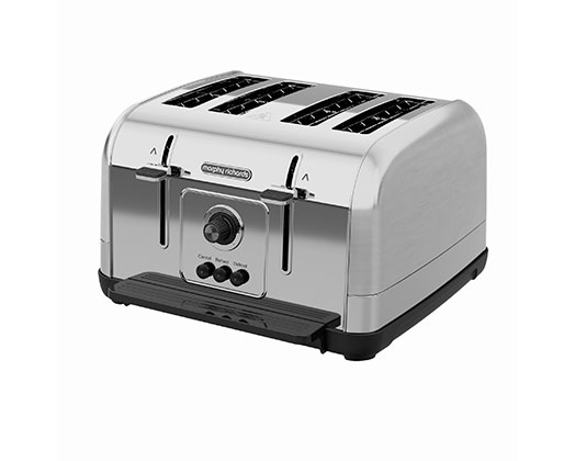 """Morphy Richards Toaster 4 Slice Stainless Steel Silver 1800W """"Venture"""""""